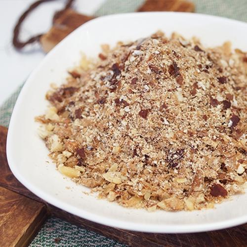 福利品-綜合堅果粉碎末120g 粉末與碎粒混合