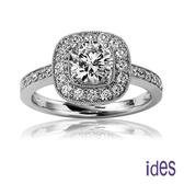 ides愛蒂思 精選GIA鑑定1.01克拉F/SI1八心八箭3EX完美車工鑽石戒指