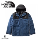 【The North Face 美國(美版) 男 DryVent兩件式 防水化纖雪衣外套《藍》】3M4M/防風外套/保暖外套