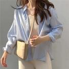 襯衫 開衫外套 上衣藍色襯衫女外穿百搭薄款防曬長袖上衣小眾新款襯衣 GD711 皇潮天下