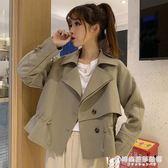 風衣外套女秋裝新款寬鬆bf百搭氣質收腰長袖夾克韓版ins上衣 時尚芭莎