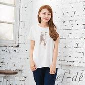 【ef-de】激安 芭蕾舞鞋圓下擺T恤(白/藍/黃)