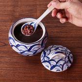 燉盅 陶瓷蒸蛋碗 煲湯盅燕窩調料罐日式和風手繪瓷碗 帶蓋茶碗蒸 聖誕歡樂購免運