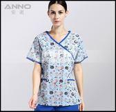 手術服洗手衣女款手術衣醫生護士服短袖滌棉印花手術室隔離衣LG-882224