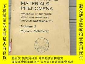 二手書博民逛書店high罕見temperature materials phenomena volume 2(P1716)Y1