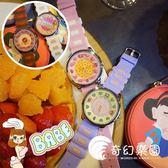 手錶-韓版創意個性日系原宿軟妹可愛林小宅撞色卡通粉萌圓形學生女手表-奇幻樂園