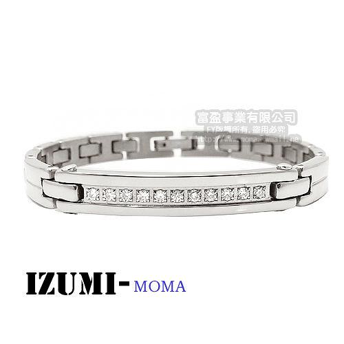 MOMA-【IZUMI】系列純鈦鍺磁手鍊-IS008WL窄版