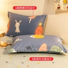 1對裝純棉枕套枕芯內膽套全棉雙人單人兒童枕頭套【白嶼家居】