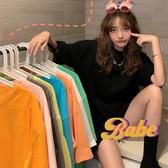 純色短袖t恤 2020新款 韓版寬鬆慵懶風上衣 美芭