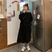 秋冬女裝韓版寬鬆加厚毛呢外套開衫中長款呢子大衣 - 風尚3C
