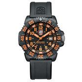 海豹部隊指標系列 經典腕錶-黑x橘時標/44mm LUMINOX 雷明時