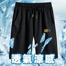 潮流布標運動短褲 休閒短褲 籃球褲 運動褲 M-3XL碼【CW44074】