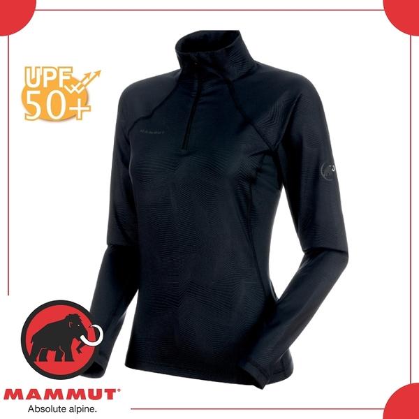 【MAMMUT 瑞士 Snow ML HZ Pull 女《黑》】1010-21960/快乾/半門襟/UPF50+/立領/上衣