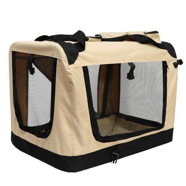 狗籠車載狗窩外出便攜包寵物箱包車載旅行籠子狗帳篷折疊中大型犬CY 【PINKQ】