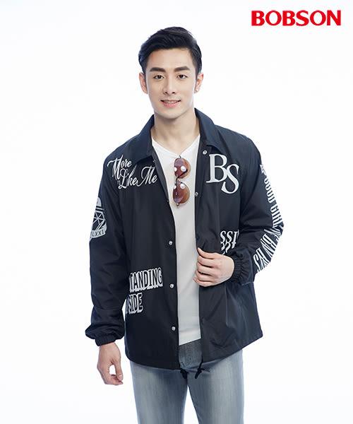【BOBSON】男款寬版印圖外套(26001-88)