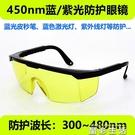 護目鏡激光防護眼鏡藍光皮秒UV紫外線固化燈熒光劑檢測美甲燈鐳射護目鏡 晶彩