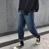 子俊秋冬新款男士韓版潮流水洗牛仔褲港風青年寬鬆直筒褲chic褲子