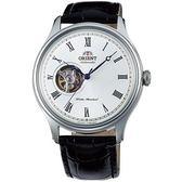 【台南 時代鐘錶 ORIENT】東方錶 FAG00003W 典雅羅馬時標鏤空機械錶 皮帶 白 43mm 公司貨開發票