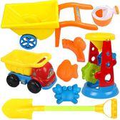 兒童沙灘工具沙車沙漏工程車套裝 室內玩沙子嬰兒玩具igo 范思蓮恩