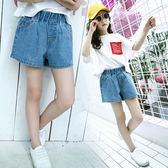 夏季中大童女孩薄款短褲純色熱褲潮