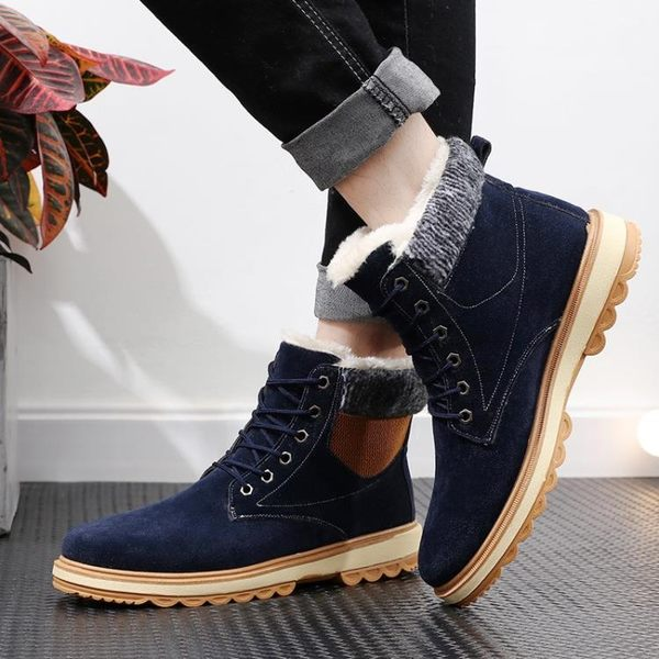 雪地靴男保暖加絨中筒馬丁靴棉靴東北加厚男士棉鞋子    傑克型男館