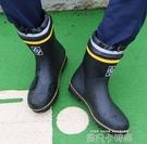 新款夏季雨鞋男中筒防滑耐磨戶外防水鞋高筒雨靴透氣韓版水靴時尚 依凡卡時尚