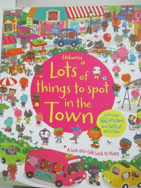 【書寶二手書T1/少年童書_EFV】Lots of things to spot in the town_Hazel Maskell