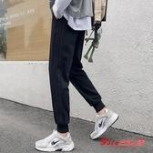 運動褲 男士秋冬季厚寬鬆休閒九分褲小腳收口束腳哈倫長褲 3色
