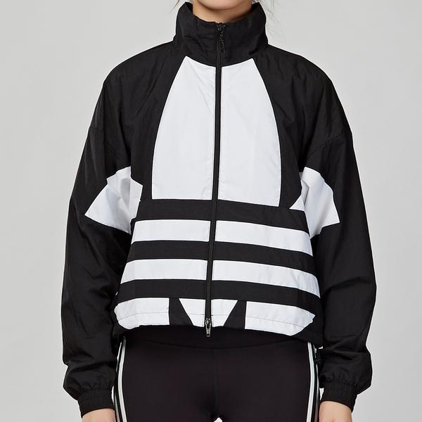 Adidas Originals 女款 黑白 新穎 LOGO 立領 長袖 外套 FM2622