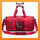 旅行包手提包健身包乾濕分離訓練包短程出遊圓桶包斜背包旅行包-黑/灰/紅/棕/藍【AAA4680】預購