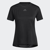 Adidas HEAT.RDY 女裝 短袖 T恤 訓練 乾爽 加長後襬 胸前小LOGO 黑【運動世界】H20744