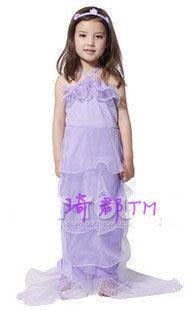 COS萬聖節化裝舞會服裝表演服裝紫色公主紗裙美人魚
