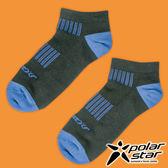 PolarStar 中性排汗踝襪 露營.戶外.登山.排汗襪.彈性襪.紳士襪.休閒襪.低筒襪.短襪- P17520 黑