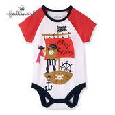 Hallmark Babies 竹系列冒險海盜貓春夏男嬰短袖包屁衣 HH1B7405BBPO