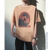 夏季男士嘻哈短袖t恤港風半袖上衣潮流寬松男裝夏裝衣服