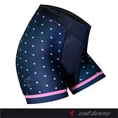 【亞特力士ATLAS】女三分褲 24℃~30℃(二代)波卡點點 WS-900-N(海軍藍)