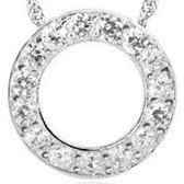 925純銀項鍊-圓型精緻唯美流行百搭女鑲鑽墜子銀飾73y43【巴黎精品】