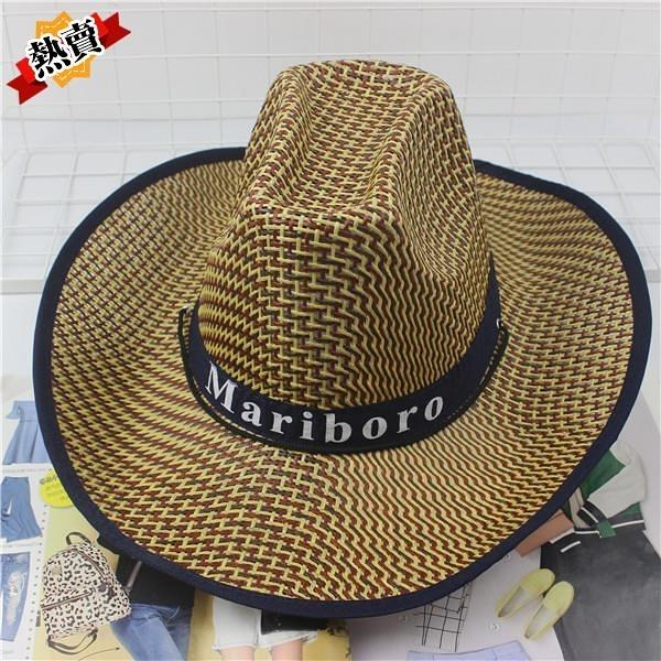 帽子 釣魚騎車男士牛仔帽度假夏沙灘大沿帽子女太陽防曬帽子男遮陽草帽