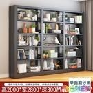 書架客廳隔斷架圖書架落地資料架檔案架家用多層置物架鐵花架 2021新款書架
