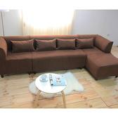 伊登 傑斯 L型獨立筒組合式沙發(咖啡-右扶手)