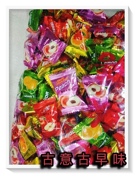古意古早味 水蜜桃綜合軟糖 (3000公克/量販包) 懷舊零食 蘋果 柳橙 蜜桃糖 喜糖 糖果