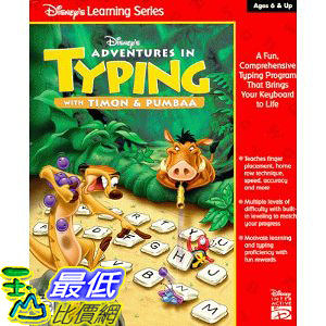[美國直購 ShopUSA] Disney's Adventures in Typing with Timon & Pumbaa $1161