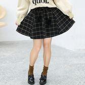 中大尺碼~仿兔毛毛球裝飾短裙(XL~4XL)