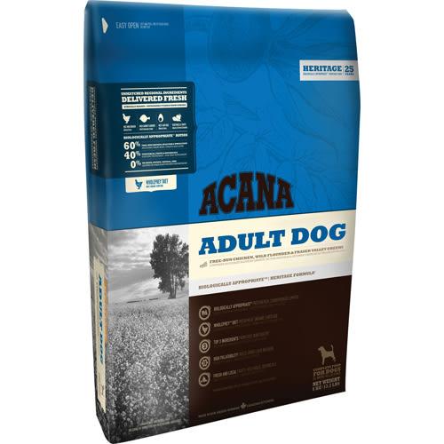 【寵物王國】ACANA愛肯拿-潔牙成犬無穀配方(放養雞肉+新鮮蔬果)11.4kg