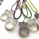 『晶鑽水晶』天然茶黃水晶墜子雕刻~祥獅獻瑞~送禮物佳品~附禮盒及鍊子*免運費