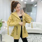 2018秋冬新款韓版女裝修身顯瘦中長款時尚休閒連帽小個子風衣外套