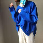 寬鬆套頭長袖針織衫秋冬女裝新款韓版毛衣女