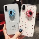 【限時下殺89折】紅色芝麻街液體水晶球蘋果x手機殼iphone8plus軟6s/7/xr/xs max女交換禮物