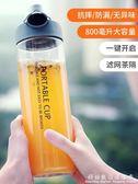 戶外水杯夏天運動塑料健身水瓶大容量便攜簡約太空男女學生刻度防摔 科炫數位