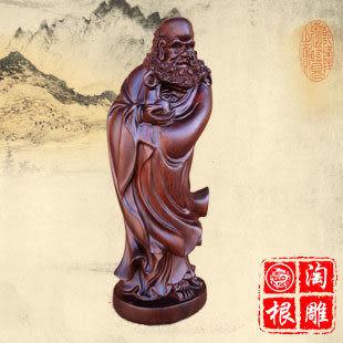 黑檀木雕 雕件擺件佛像藝術達摩祖師菩薩工藝品鎮宅辟邪